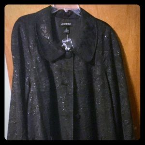 Lane Bryant, Brocade Black Jacket,